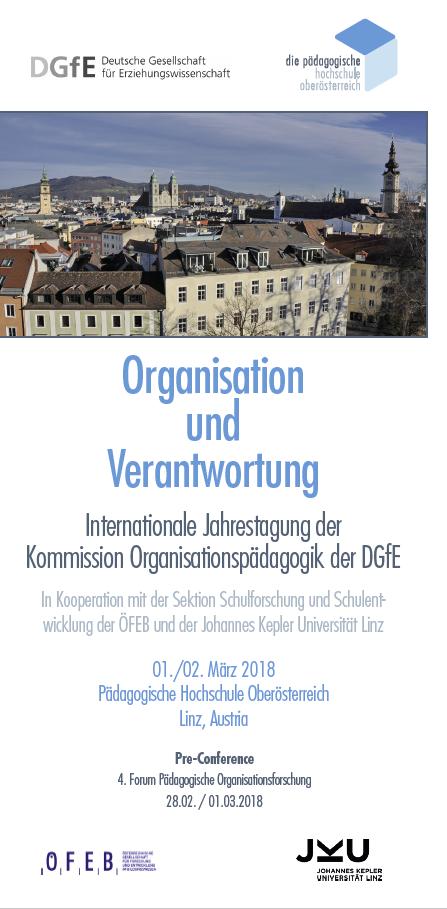 Flyer zur Tagung Organisation und Verantwortung